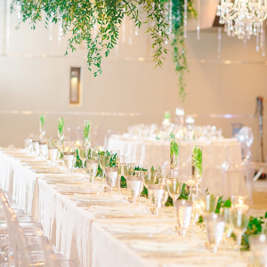 Elegant greenery reception