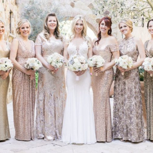 Metallic bridesmaids