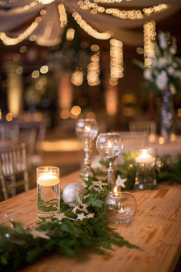 Winter centerpieces