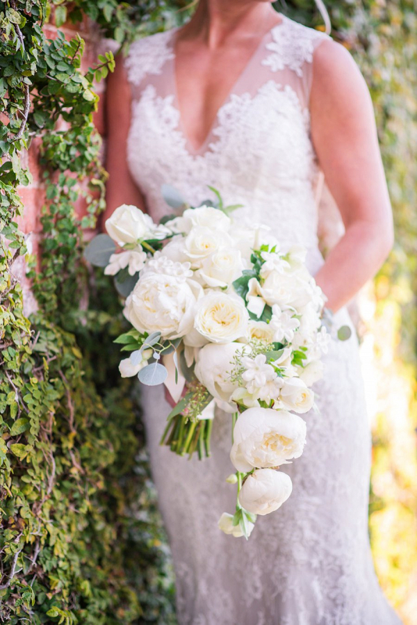 White cascading bouquet