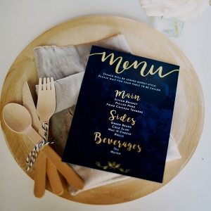 Wooden place setting on Every Last Detail