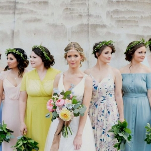 colorful bridesmaids on Every Last Detail