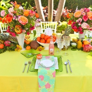 Lilly Pulitzer Inspired Tablescape