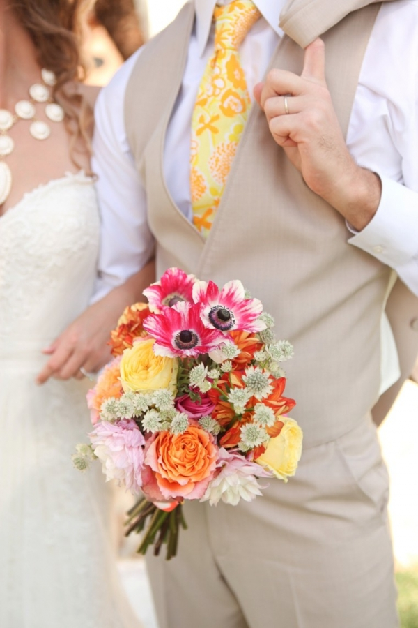 Pink and orange bouquet
