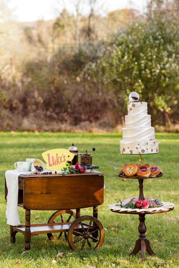 Wedding cake and dessert display