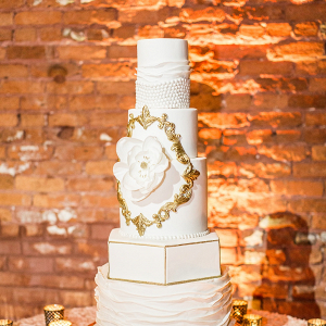 Glam gold wedding cake