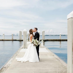 Seaside wedding portrait