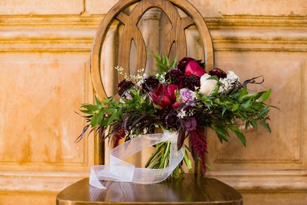 Burgundy and magenta bouquet