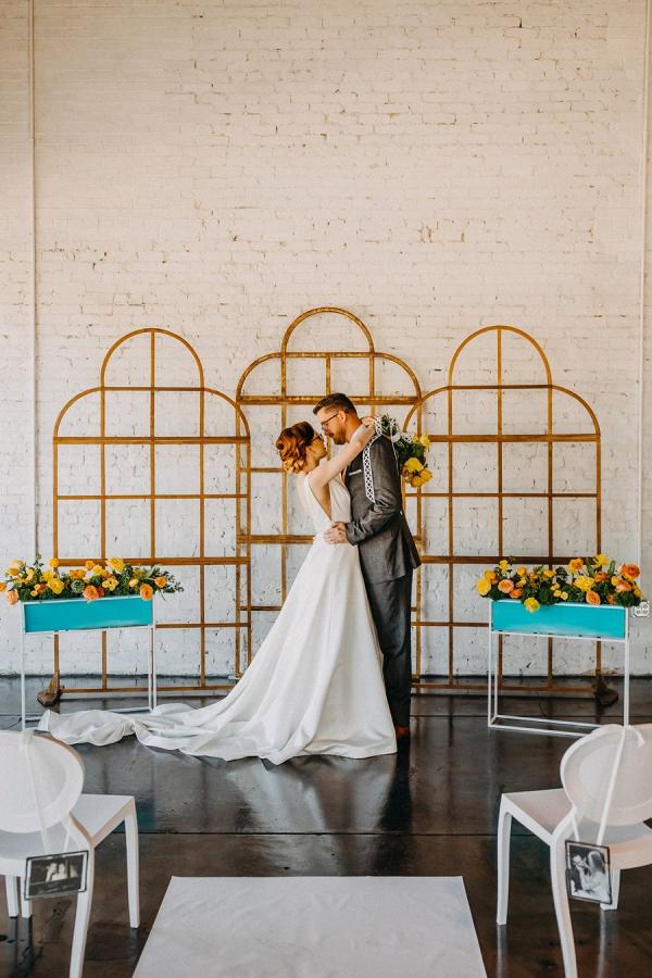 Modern ceremony backdrop