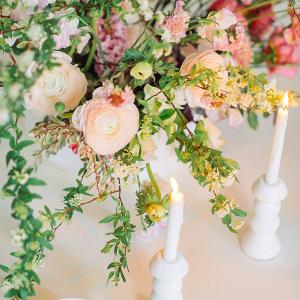 Lush floral centerpiece