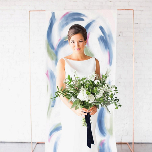 Modern painted ceremony backdrop