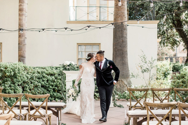 Winter estate wedding ceremony