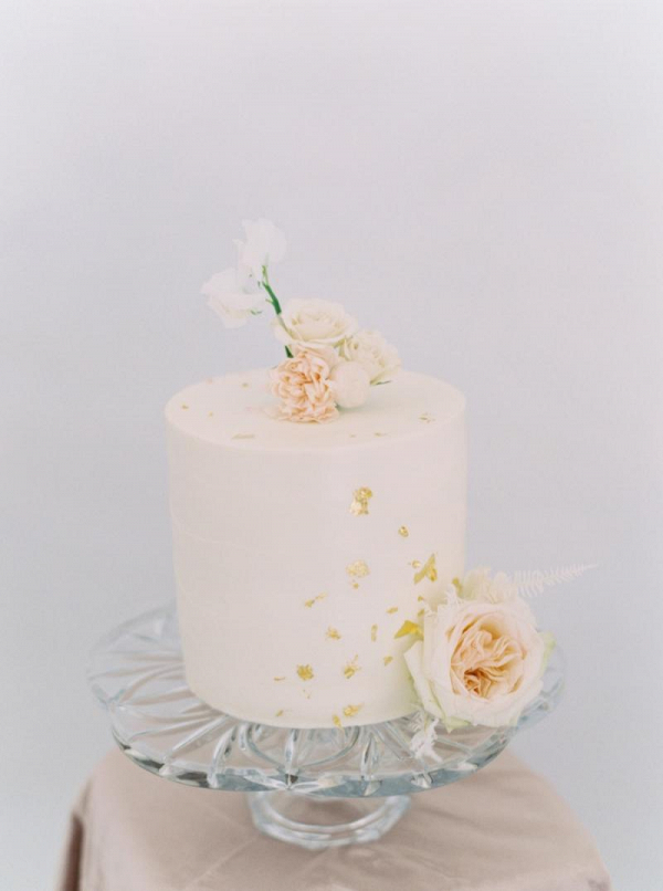 Gold flaked cake
