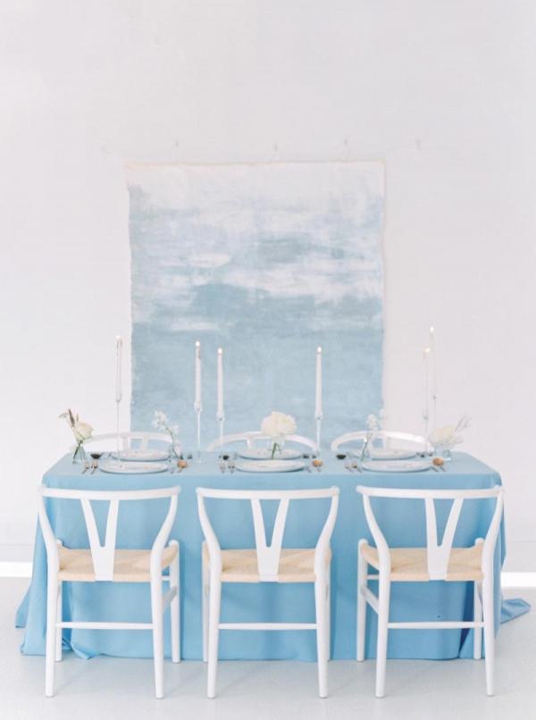 Minimalist wedding decor