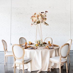 Modern geometric wedding table design