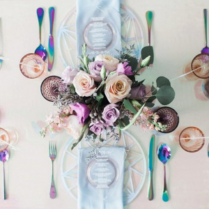 Iridescent tablescape