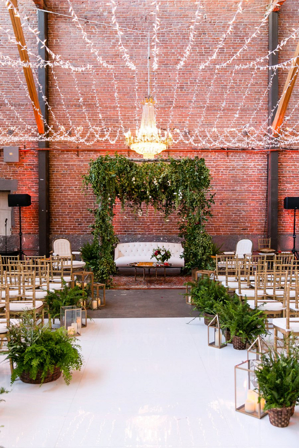 Greenery filled ceremony
