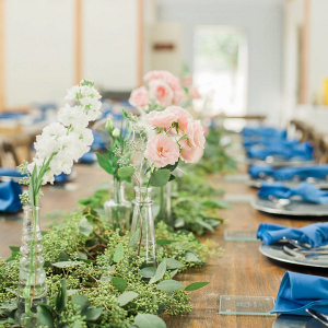 Greenery runner centerpiece