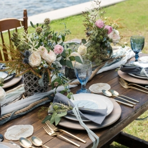 Ocean Inspired Wedding Tablescape