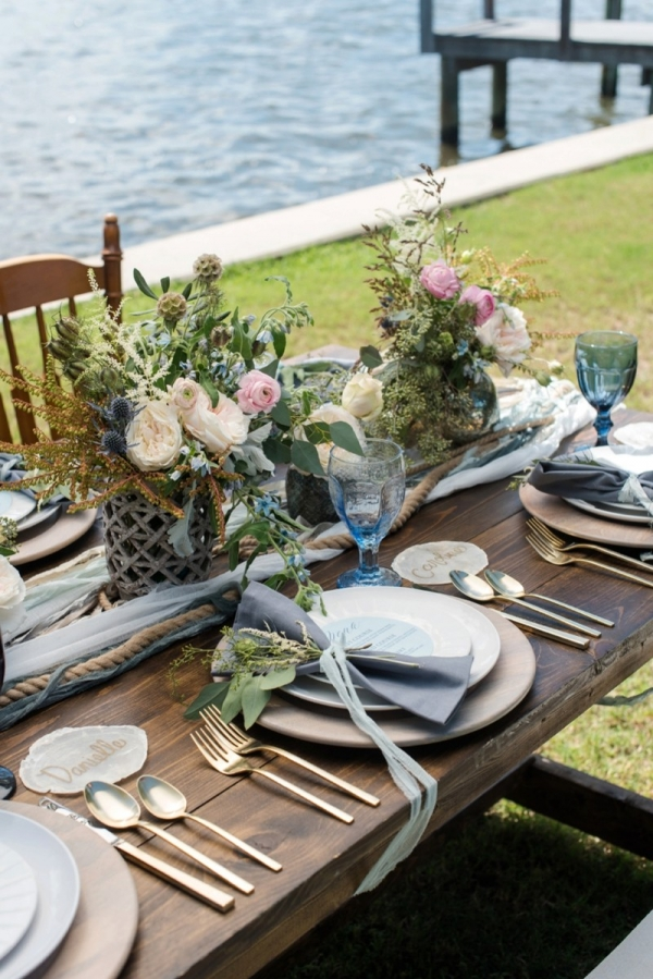 Ocean Inspired Wedding Tablescape