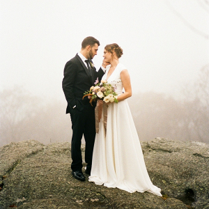 Foggy mountain wedding
