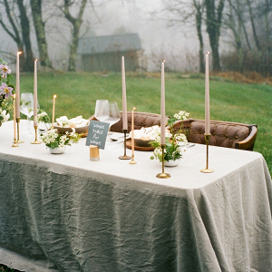 Fall mountain reception table