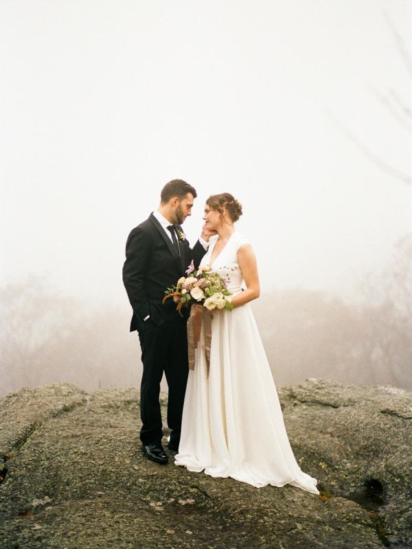 Foggy mountain wedding