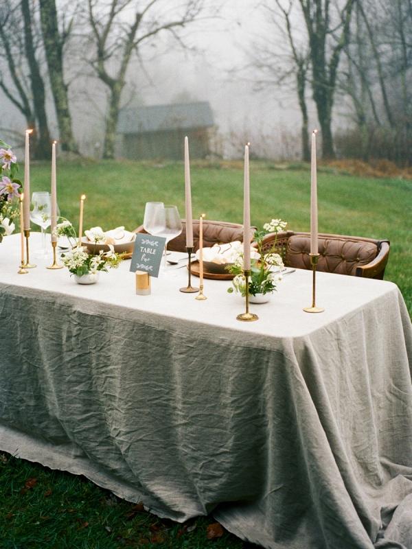 Fall mountain reception table