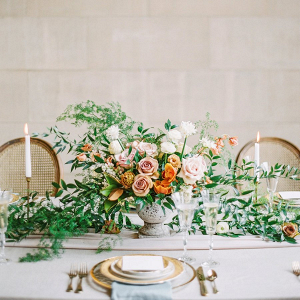Peach and orange centerpiece