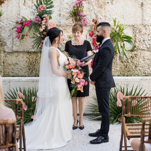 Tropical Florida wedding ceremony