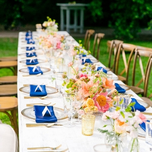 colorful farm table reception on Every Last Detail