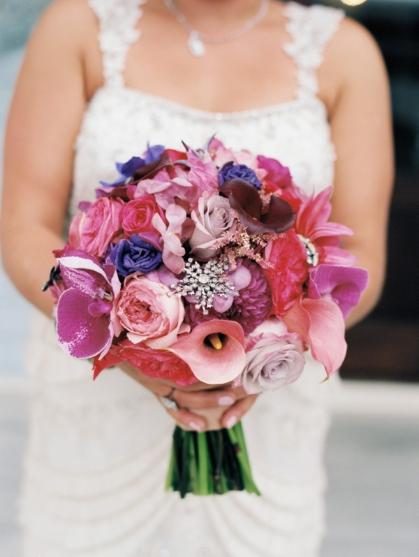 Pink and purple bouquet