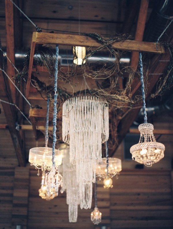 Grouping of chandeliers