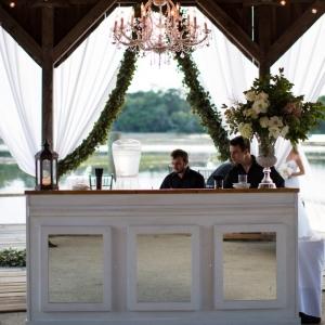 White mirrored bar