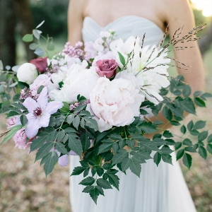 Gorgeous lavender and pink bouquet