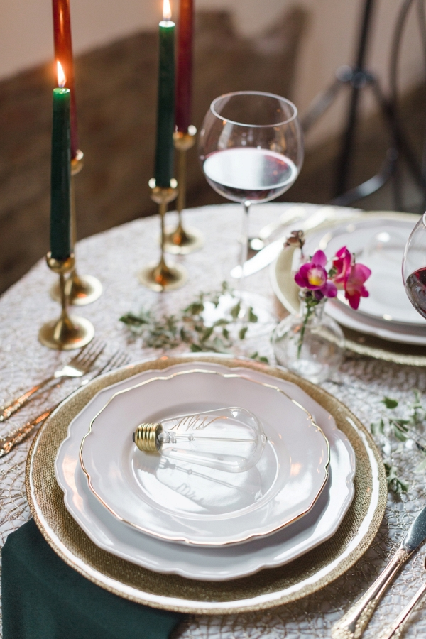 Modern romantic place setting on Every Last Detail