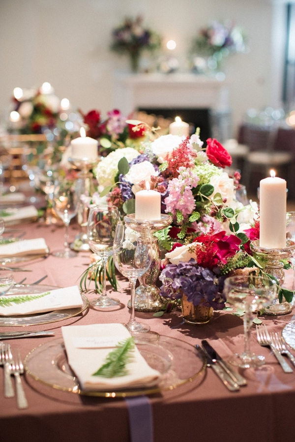 Lush centerpieces on Every Last Detail