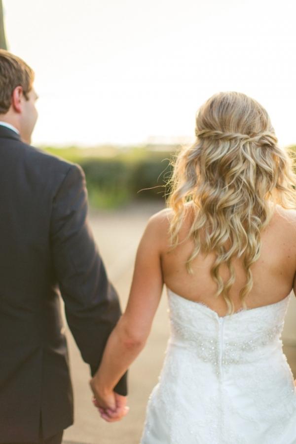 Bridal half up half down hairstyle
