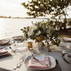 Florida waterside wedding table