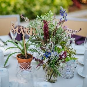 Eclectic wildflower centerpiece