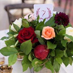 Rustic and romantic centerpiece