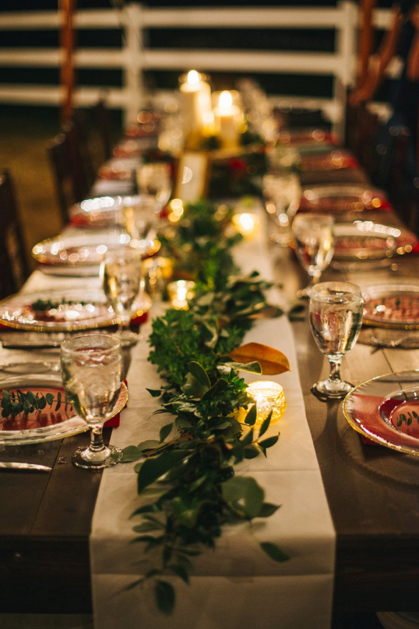 Candlelit farm table reception on Every Last Detail