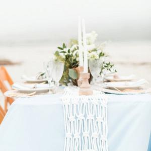 Seaside tablescape