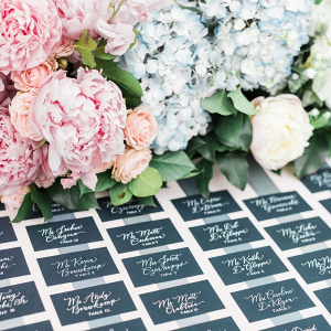 Calligraphy escort cards