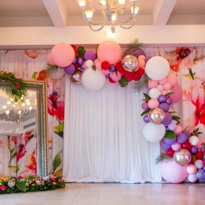 Balloon photo booth backdrop