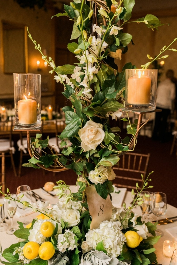Tuscan Inspired Centerpiece with Lemons