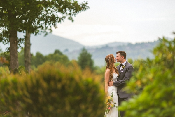 Bride and groom portraits in the mountains