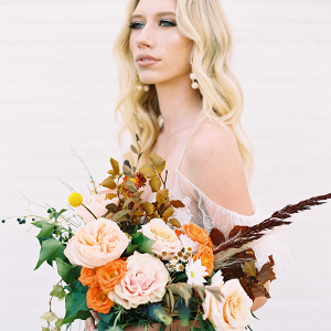 Orange and yellow bridal bouquet