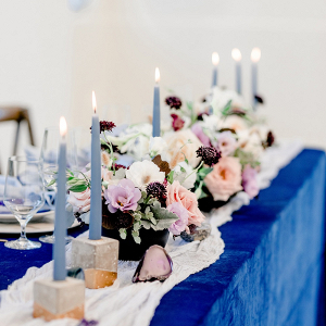 Celestial blue wedding table