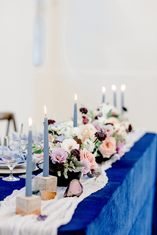Celestial blue wedding table